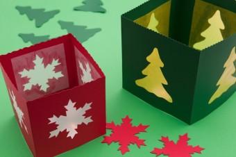weihnachtliche tischlaternen lamp und leute. Black Bedroom Furniture Sets. Home Design Ideas