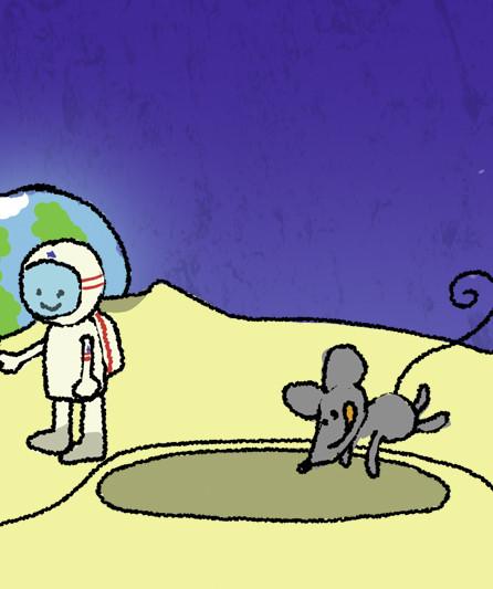 Die Maus im Mond