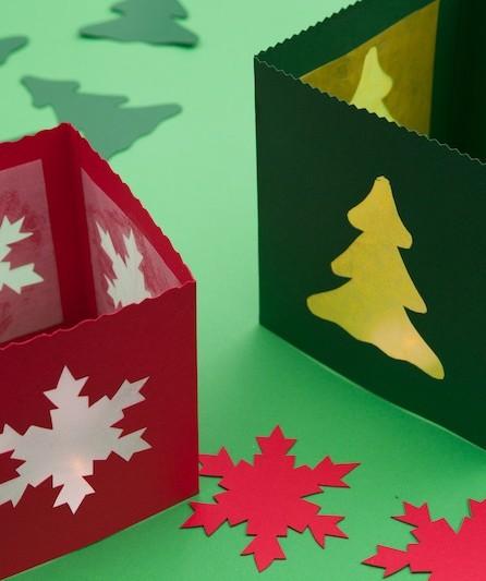 Weihnachtliche Tischlaternen