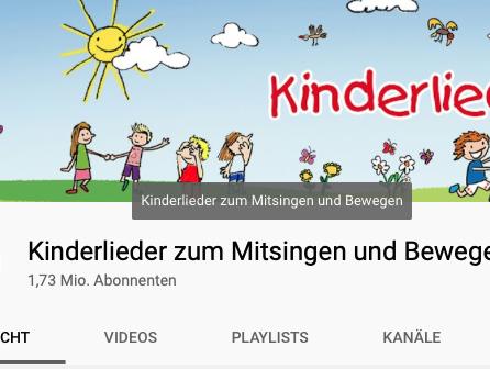 Kinderlieder zum Mitsingen – You Tube Kanal wird immer größer